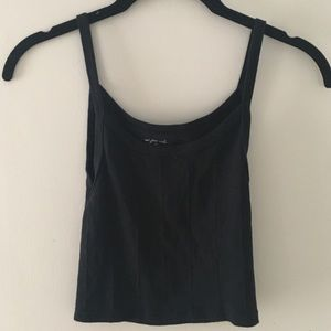Urban Outfitters Black Cropped Tank Top